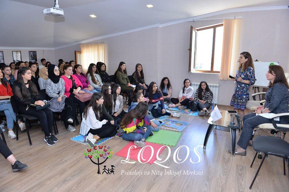 """Azadlıq filialında """"Loqopediya"""" kursunun ilk görüşü keçirildi."""