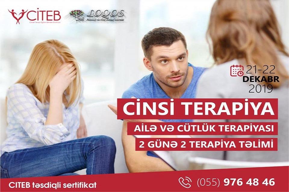 """İlk dəfə Bakıda """"Ailə, cütlük və cinsi terapiya"""" təlimlərinə start veriləcək."""