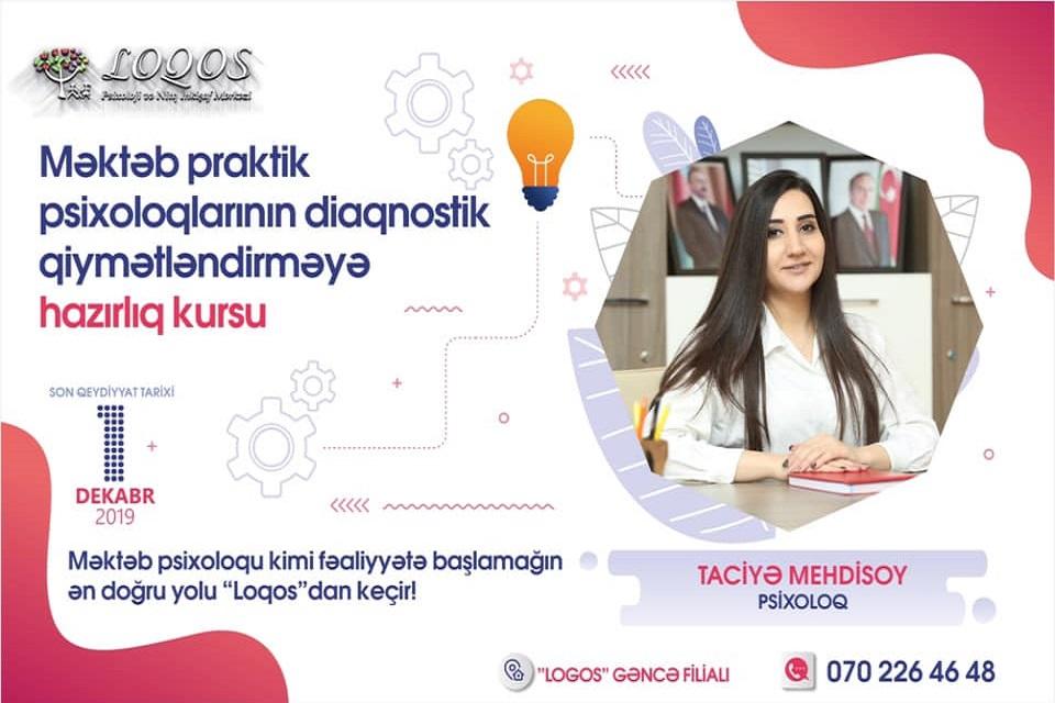 Psixoloq Taciyə Mehdisoy Məktəb praktik psixoloqların hazırlıq kursuna start verir!