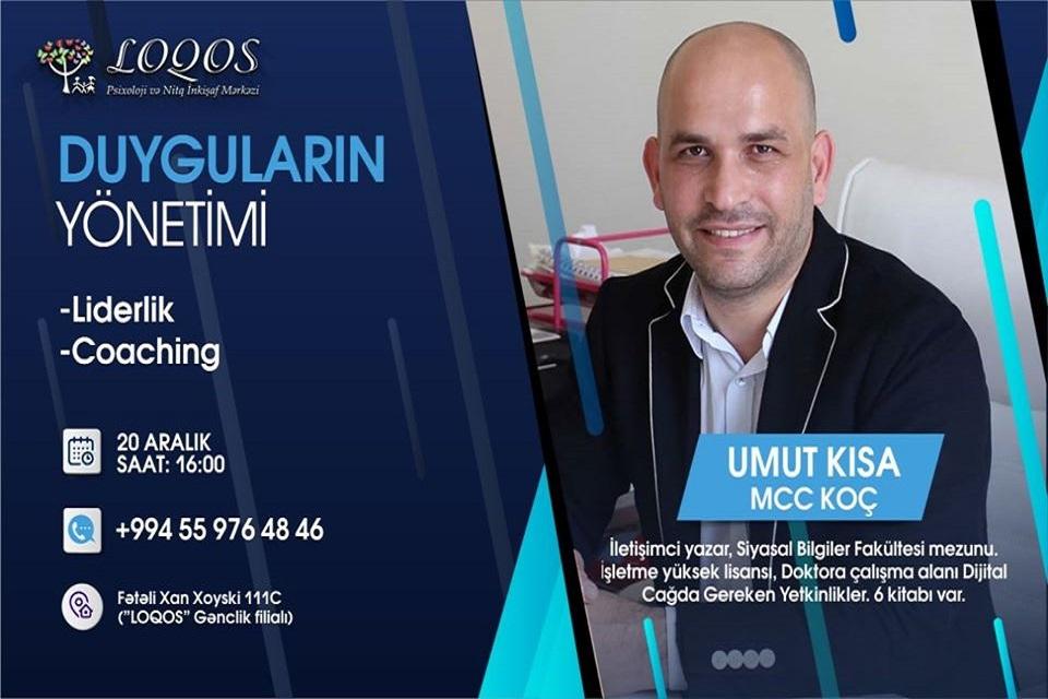 Məşhur təlimçi və yazar Umut Kısa Bakıda