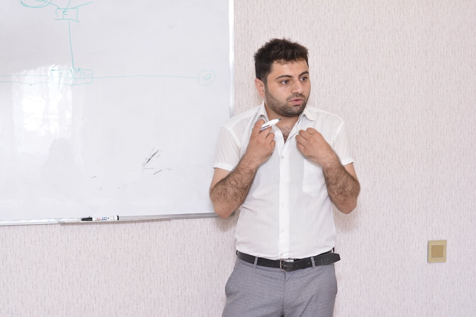 """Təlimçi Kamran Məmmədov tərəfindən keçirilən  """"6 istiqamətdə düşüncə sistemi"""" təlimi baş tutdu."""