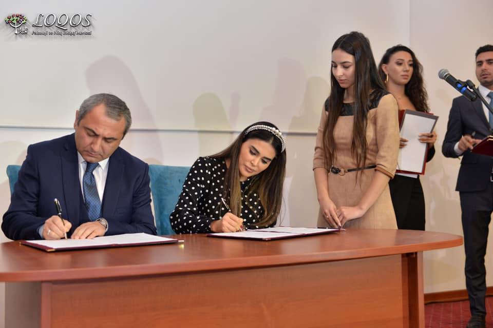 """UNEC ilə """"Loqos"""" Psixoloji və Nitq İnkişaf Mərkəzi arasında əməkdaşlıq memorandumu imzalanıb."""