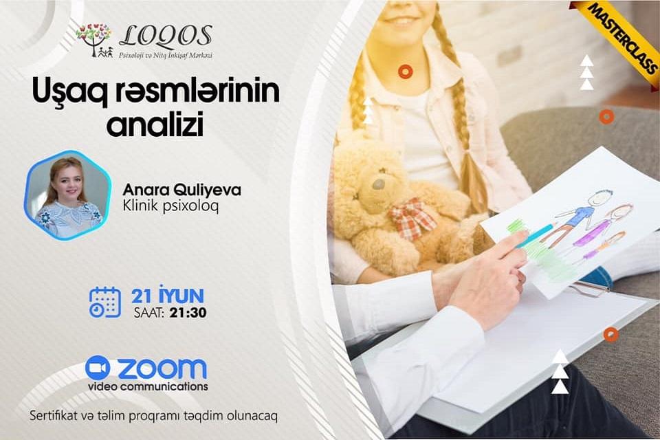 """""""Loqos"""" Psixoloji və Nitq İnkişaf Mərkəzi növbəti  """"Uşaq rəsmlərinin analizi"""" Masterclassına  start verir!"""