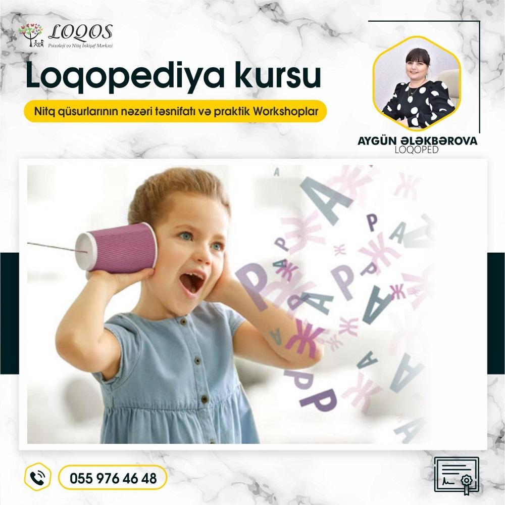 Nəzəri və praktik workshoplu Loqopediya kursuna start veririk!