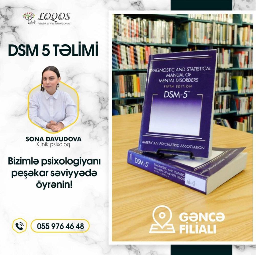 DSM-5 Təliminə Qeydiyyat Başladı!