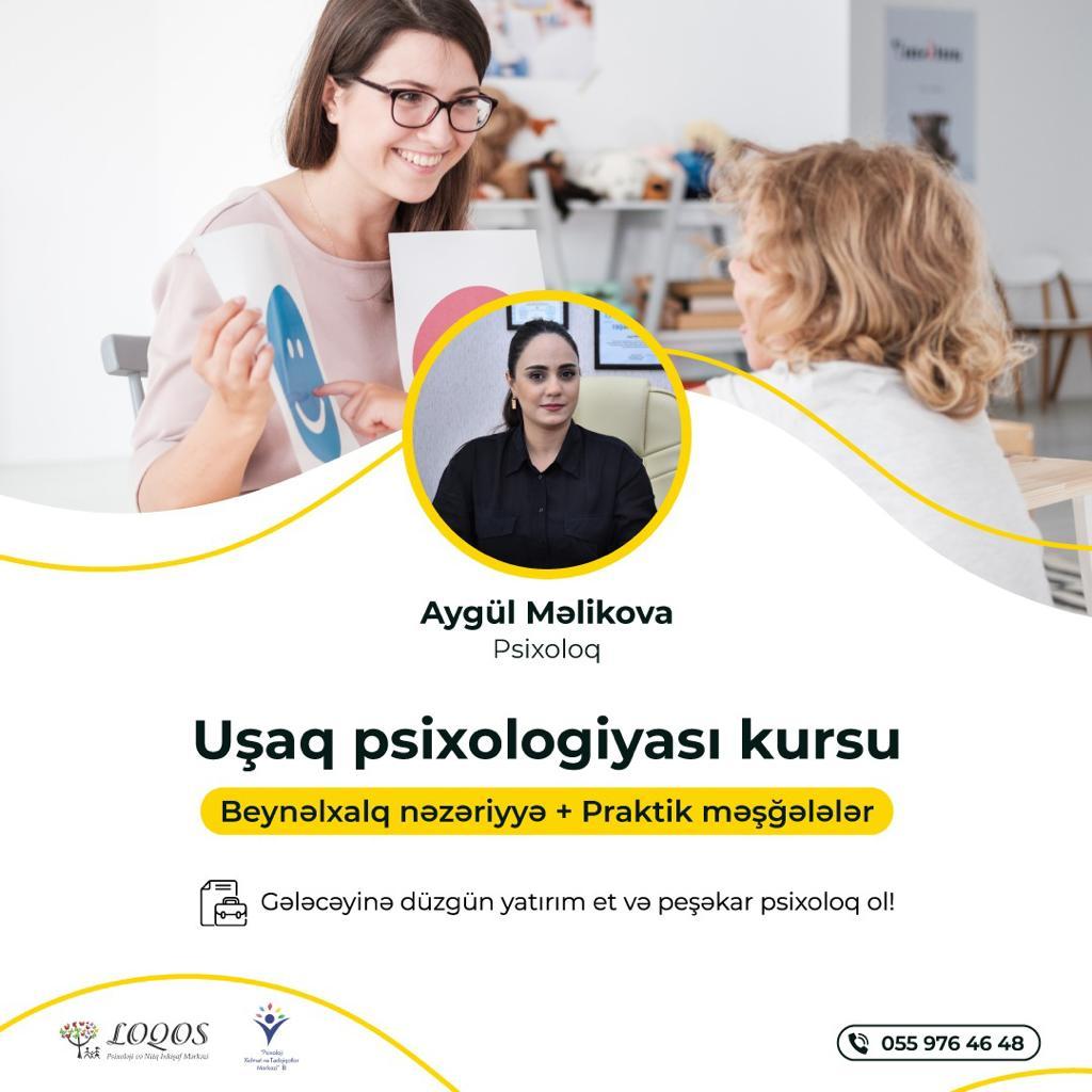 """Növbəti """"Uşaq Psixologiyası"""" kursunun qeydiyyatına start veririk!"""