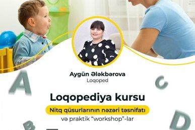 """Workshoplarla keçiriləcək """"Loqopediya"""" kursuna hazırsınız?"""